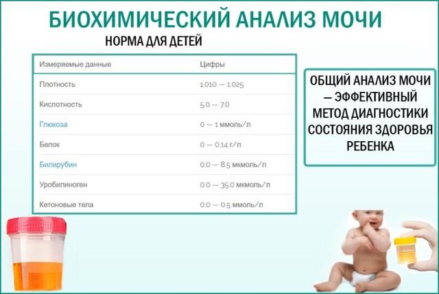 Расшифровки анализа мочи у ребенка: нормальные показатели, причины отклонения и возможные заболевания